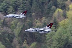 RAF Tornado GR4 617 Squadron 'Dambusters', Derwent Dam. Derwent Reservoir, Derbyshire