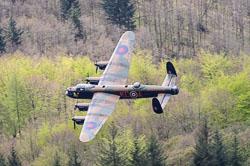 BBMF Avro Lancaster, Derwent Dam. Derwent Reservoir, Derbyshire