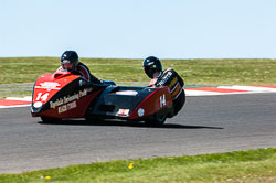 Simon Christie & Sam Christie, Open Sidecar, Derby Phoenix, Cadwell Park, 2011