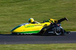 Ben Bygrave & Callum Lawson, Open Sidecar, Derby Phoenix, Cadwell Park, 2011