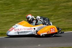 Tim Antill & Jim Stonier, Open Sidecar, Derby Phoenix, Cadwell Park, 2011