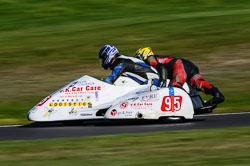 Shane Maddison & Jon-Paul Jones, F2 Sidecars, Derby Phoenix, Cadwell Park, September 2011