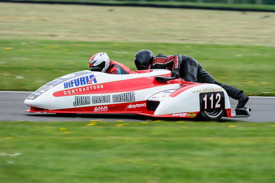... / Barry James & Sam Christie, EMRA Sidecars, Cadwell Park, May 2013