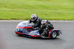 Clint Faulkner & Ben Gray, Classic Sidecars, CRMC, Cadwell Park