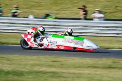 Mark Edwards & Lee Barrett, British F1 Sidecar, Snetterton, 2013-07