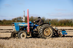 Ford 3000 at Collingham Ploughing Match, Swinderby, Lincolnshire, February 2018. Photo: Neil Houltby