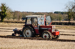 International 685 at Collingham Ploughing Match, Swinderby, Lincolnshire, February 2018. Photo: Neil Houltby