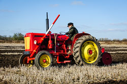 David Brown 950 at Collingham Ploughing Match, Swinderby, Lincolnshire, February 2018. Photo: Neil Houltby