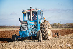Ford 7000 at Barton Upon Humber Ploughing Tournament, Worlaby Top, Lincolnshire, October 2018. Photo: Neil Houltby