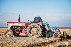 International 434 at Barton Upon Humber Ploughing Tournament, Worlaby Top, Lincolnshire, October 2018. Photo: Neil Houltby