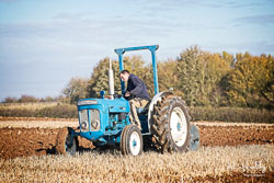 Fordson Super Dextra at Barton Upon Humber Ploughing Tournament, Worlaby Top, Lincolnshire, October 2018. Photo: Neil Houltby