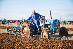 Fordson Dextra at Barton Upon Humber Ploughing Tournament, Worlaby Top, Lincolnshire, October 2018. Photo: Neil Houltby