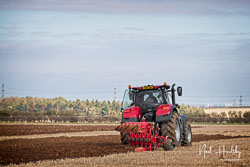 Case Optum 300 CVX at Barton Upon Humber Ploughing Tournament, Worlaby Top, Lincolnshire, October 2018. Photo: Neil Houltby