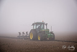 John Deere 3650 at Collingham Ploughing Match, South Scarle, Lincolnshire, February 2019. Photo: Neil Houltby