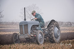 Ferguson TE-20 at Collingham Ploughing Match, South Scarle, Lincolnshire, February 2019. Photo: Neil Houltby