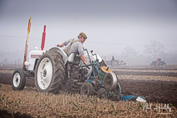 David Brown 880 at Collingham Ploughing Match, South Scarle, Lincolnshire, February 2019. Photo: Neil Houltby