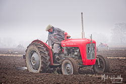 Massey Ferguson MF35 at Collingham Ploughing Match, South Scarle, Lincolnshire, February 2019. Photo: Neil Houltby