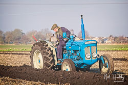 Fordson Super Dextra at Newborough Plouging Match, Newborough, Cambridgeshire, February 2019. Photo: Neil Houltby