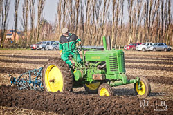 John Deere at Newborough Plouging Match, Newborough, Cambridgeshire, February 2019. Photo: Neil Houltby