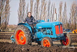 Fordson Major Diesel at Newborough Plouging Match, Newborough, Cambridgeshire, February 2019. Photo: Neil Houltby