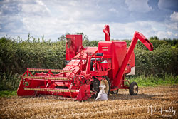 Massey Harris Combine at Gathering the Harvest, East Bridgeford, Nottinghamshire, August 2019. Photo: Neil Houltby