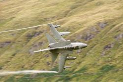9 Squadron RAF Tornado GR4, Lowfly, Wales