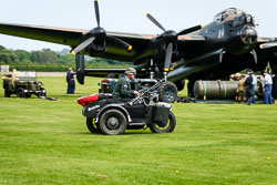 German Army Sidecar at Lanc and Tank, Lincolnshire Aviation Heritage Centre, East Kirkby, Lincolnshire, May 2018. Photo: Neil Houltby