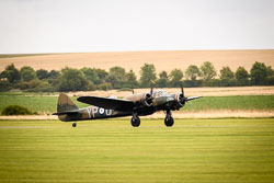 Bristol Blenheim at Battle of Britain, Duxford Air Show, Imperial War Museum Duxford, Cambridgeshire, September 2018. Photo: Neil Houltby