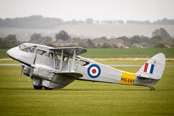 de Haviland DH89 Dragon Rapide at Battle of Britain, Duxford Air Show, Imperial War Museum Duxford, Cambridgeshire, September 2018. Photo: Neil Houltby