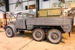 RAF Winch Vehicle at Night Shoot, Lincolnshire Aviation Heritage Centre, East Kirkby, Lincolnshire, September 2018. Photo: Neil Houltby