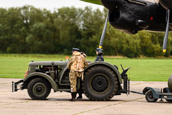 RAF Reenactors at Night Shoot, Lincolnshire Aviation Heritage Centre, East Kirkby, Lincolnshire, September 2018. Photo: Neil Houltby