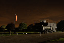 Control Tower at Night Shoot, Lincolnshire Aviation Heritage Centre, East Kirkby, Lincolnshire, September 2018. Photo: Neil Houltby