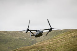 USAF Bell Boeing V-22 Osprey at Wales, Lowfly, Cad East, Gwynedd, September 2018. Photo: Neil Houltby