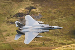 USAF Boeing F-15c at Wales, Lowfly, Cad East, Gwynedd, September 2018. Photo: Neil Houltby