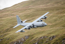 USMC Lockheed C-130J Hercules at Wales, Lowfly, Cad East, Gwynedd, September 2018. Photo: Neil Houltby