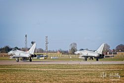 RAF Eurofighter Typhoon at RAF Coningsby,  Lincolnshire, February 2019. Photo: Neil Houltby