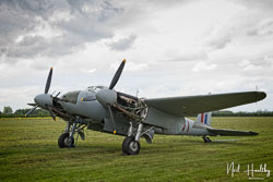 DeHaviland Mosquito Mk II at De Haviland Day, Lincolnshire Aviation Heritage Centre, East Kirkby, Lincolnshire, May 2019. Photo: Neil Houltby