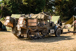 US Army M21 Mortar Motor Carriage at WWII Reenactment, Baston in the Blitz, Baston, Lincolnshire, August 2018. Photo: Neil Houltby