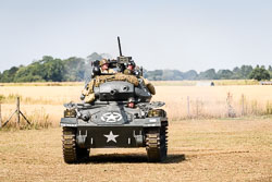US Army M24 Chaffee at WWII Battle Reenactment, Baston in the Blitz, Baston, Lincolnshire, August 2018. Photo: Neil Houltby