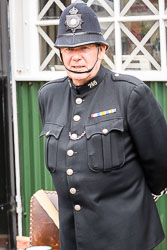 Police at WWII Reenactment, Ramsey 1940's Weekend, Ramsey, Cambridgeshire, August 2018. Photo: Neil Houltby
