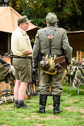 German Army at WWII Reenactment, Ramsey 1940's Weekend, Ramsey, Cambridgeshire, August 2018. Photo: Neil Houltby