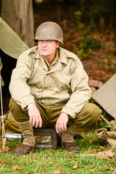 US Army at WWII Reenactment, Ramsey 1940's Weekend, Ramsey, Cambridgeshire, August 2018. Photo: Neil Houltby