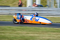 Andy Peach & Charlie Richardson, British F1 Sidecar, Snetterton, 2013-07