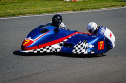 Daryl Gibson and Ashley Moore at EMRA, Mallory Park, Leicestershire, May 2018. Photo: Neil Houltby