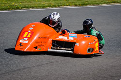Ralph Remnant and Samantha Tilley at EMRA, Mallory Park, Leicestershire, May 2018. Photo: Neil Houltby