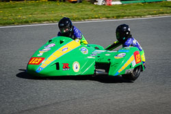 Richard Hackney and Jayne Morris at EMRA, Mallory Park, Leicestershire, May 2018. Photo: Neil Houltby