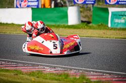 Greg Noble and Rob Sztasnert at EMRA, Mallory Park, Leicestershire, May 2018. Photo: Neil Houltby
