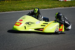 Ian Sutcliffe and Robert Bryant at EMRA, Mallory Park, Leicestershire, May 2018. Photo: Neil Houltby