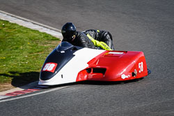 John Chandler and Arlo Brown at EMRA, Mallory Park, Leicestershire, May 2018. Photo: Neil Houltby