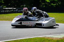 Colin Rust at International Sidecar Revival, Cadwell Park, Lincolnshire, June 2018. Photo: Neil Houltby